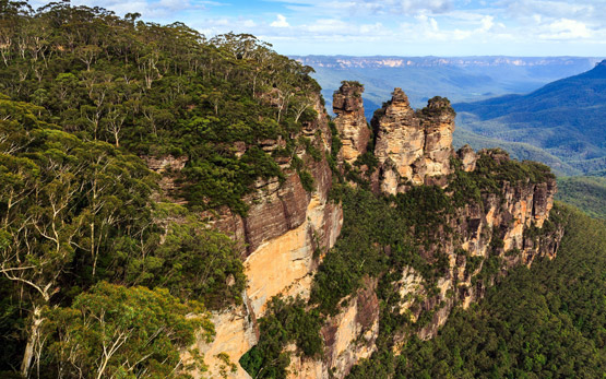 Three Sisters at the Blue Mountains, west of Sydney