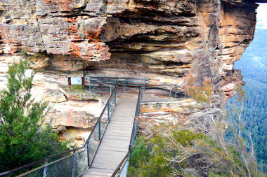 Bridge leading to the Three Sisters in the Blue Mountains, NSW