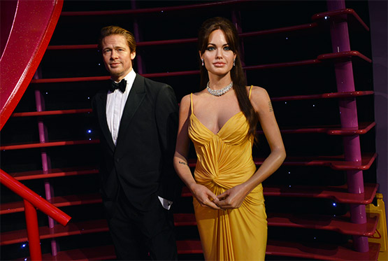 Brad Pitt and Angelina Jolie at Madame Tussauds in Sydney