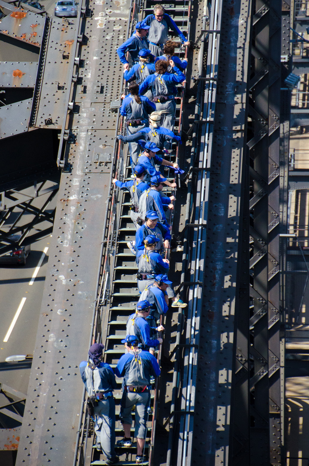 Climbers on the Sydney Harbour Bridge arch