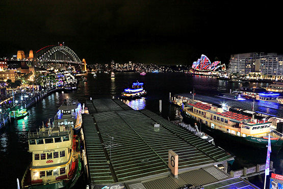 Circular Quay, Sydney, at night