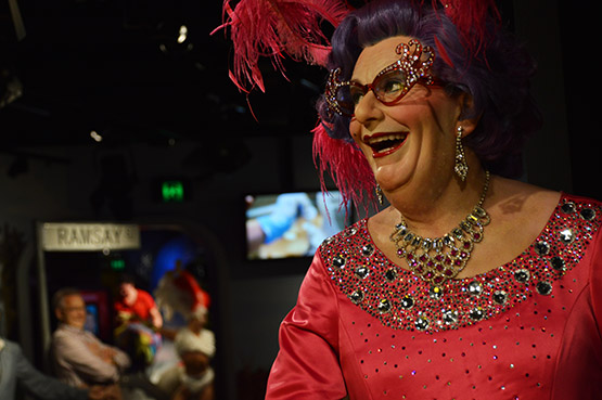 Dame Edna at Madame Tussauds in Sydney