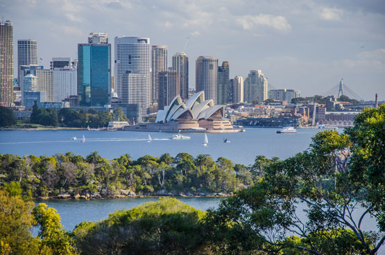 Sydney Harbour as seen from 