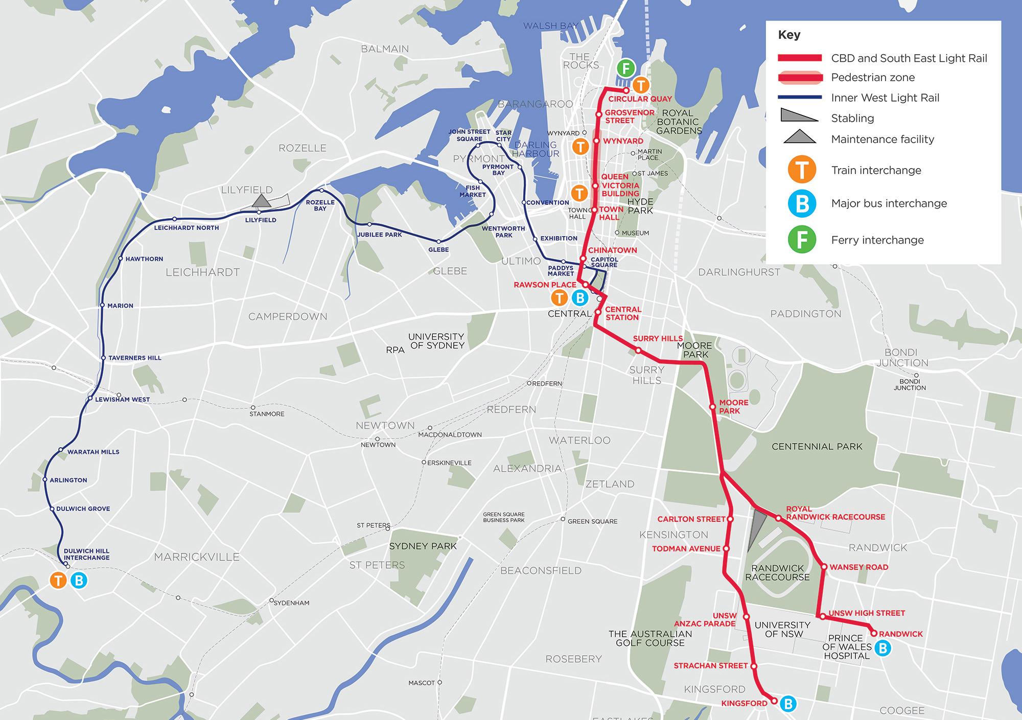 sydney australia suburbs map
