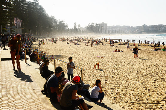 Manly Beach, Sydney, in May 2016