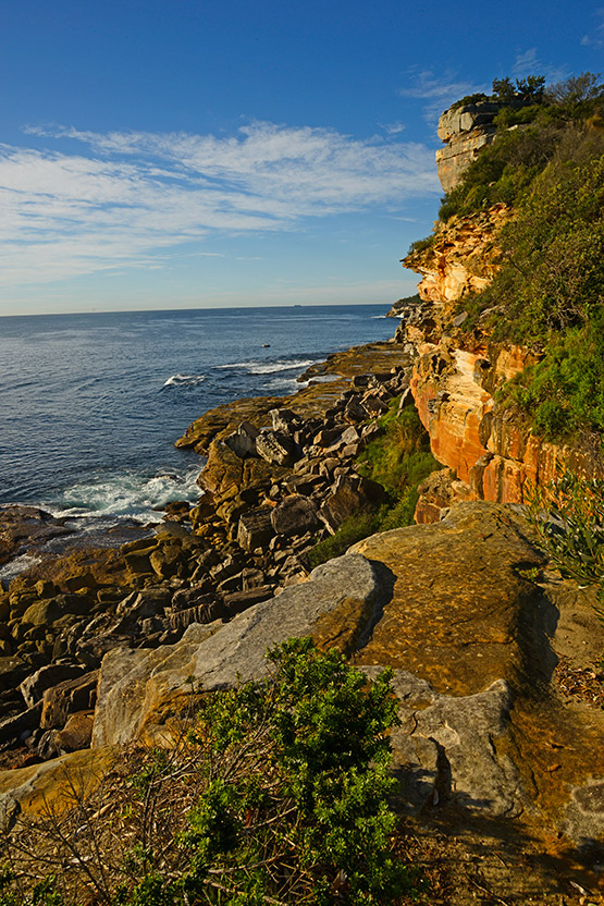 Views of the rockly Manly coastline near North Head