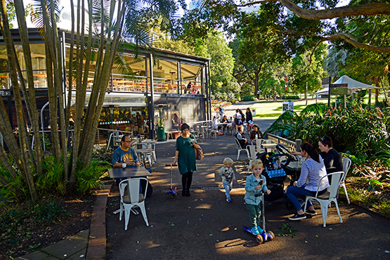 The restaurant and cafe at the Sydney Royal Botanic Gardens, Sydney