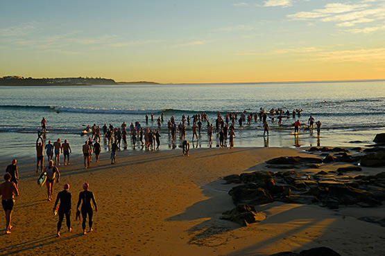 Members of the Bold and Beautiful Swim 