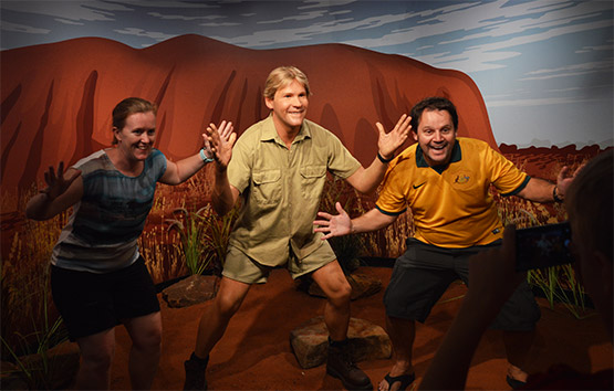 Steve Irwin at Madame Tussauds in Sydney
