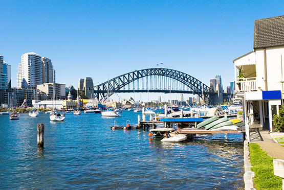 Sydney Harbour Bridge from Lavender Bay