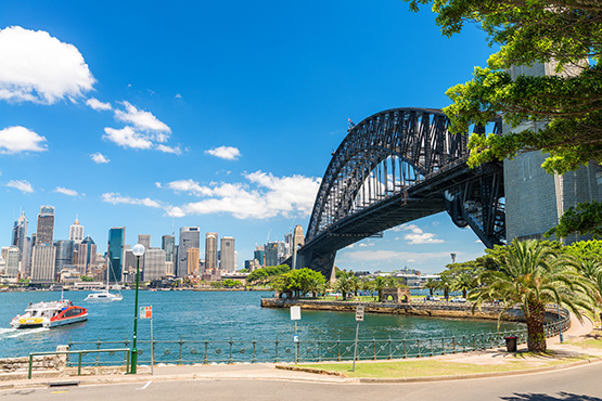 Sydney Harbour Bridge from Milsons Point